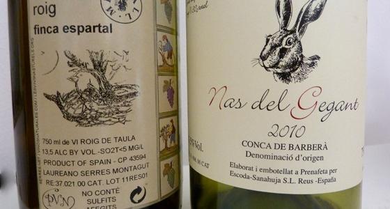 Semaine avec des bouteilles de vins naturels