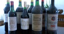 1ères grillades avec quelques vieux Bordeaux