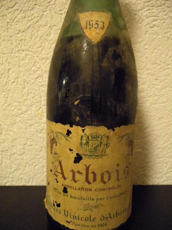 Arbois rouge 1953 de la fruitière vinicole d'Arbois