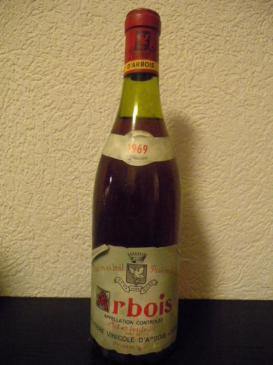 Arbois rouge 1969 de la Fruitière Vinicole d'Arbois