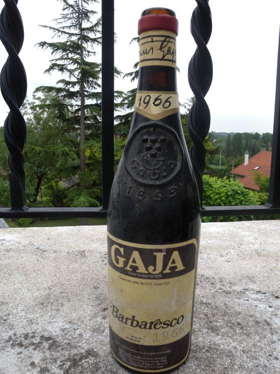 Barbaresco Gaja 1966 2ème bouteille