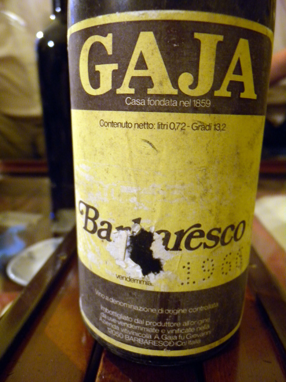 Barbaresco Gaja 1966