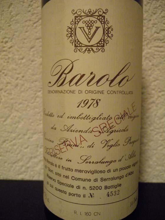 Barolo Riserva Speciale 1978