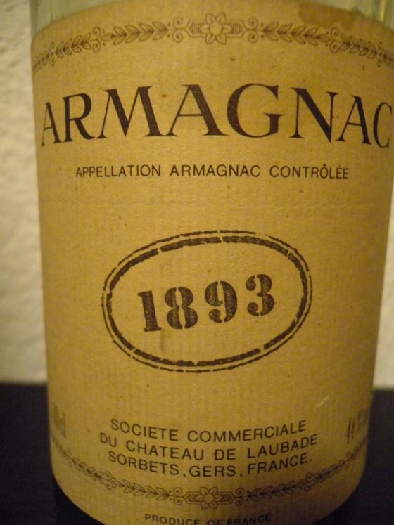 Bas-armagnac de Laubade 1893