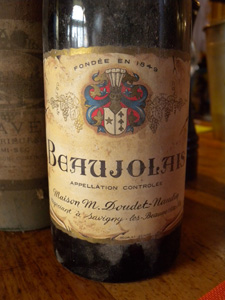 Beaujolais 1959  de la maison Doudet-Naudin