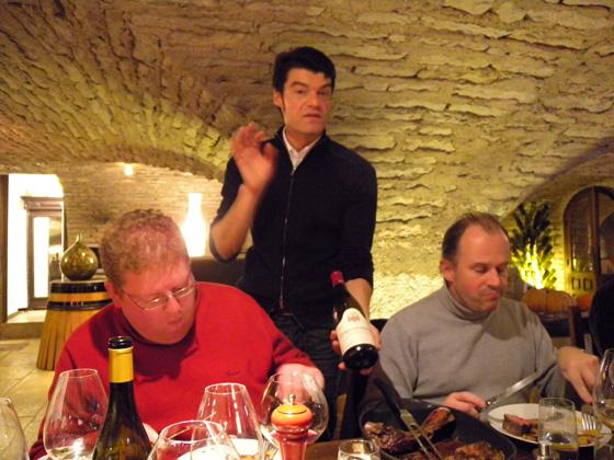 Benoît, Fabrizio et Patrick en plein repas