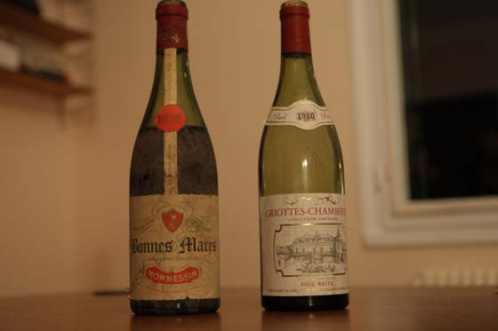 Bonnes-Mares 1952 Momessin & Griottes Chambertin 1980 Paul Reitz