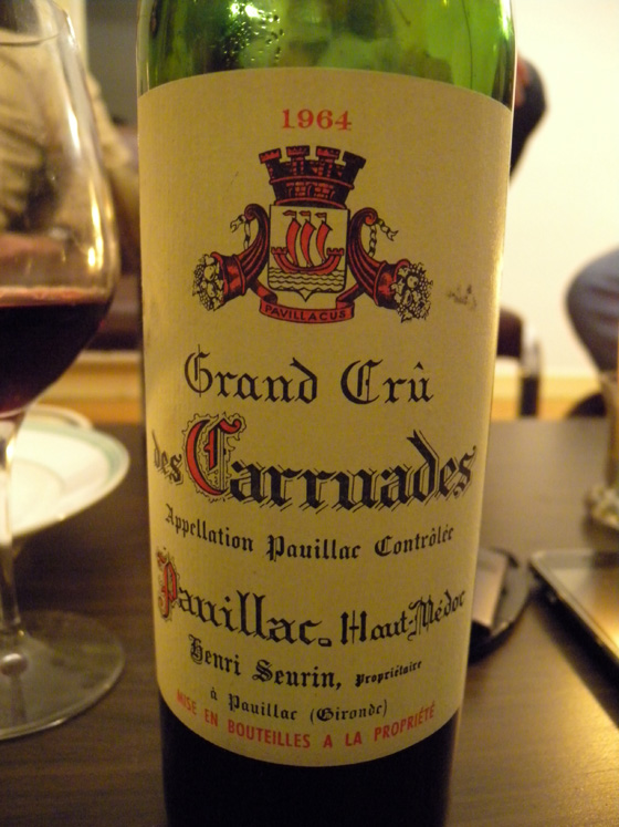 Bordeaux Grand Cru Les Carruades 1964
