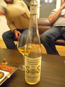Bordeaux blanc sec S&S 1966 de Schröder & Schyler
