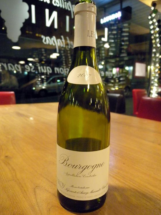 Bourgogne blanc 2007 - Maison Leroy
