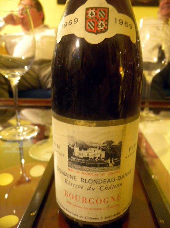 Bourgogne rouge Réserve du château 1969 du Domaine Blondeau-Danne
