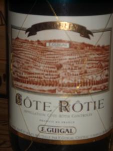 Côte Rôtie La Mouline de Guigal 1999 étiquette