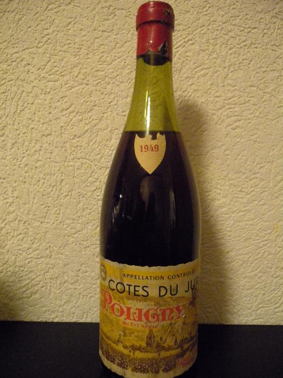 Côtes du Jura Poligny rouge 1949 de Louis Cartier