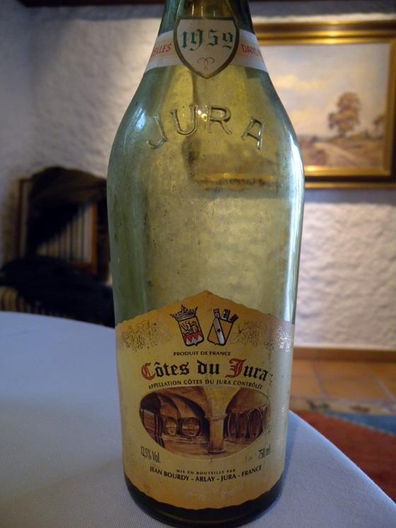 Côtes du Jura Rouge 1952 de Jean Bourdy
