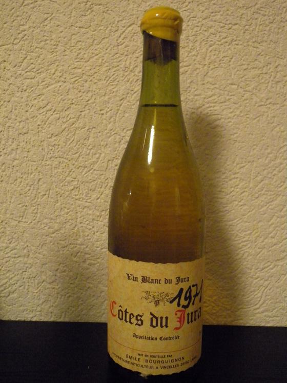 Côtes du Jura blanc 1971 d'Emile Bourguignon