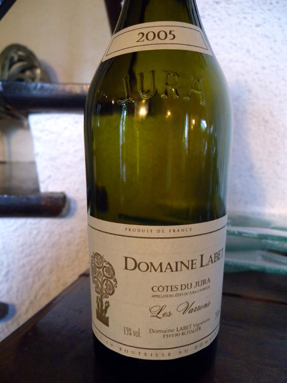 Côtes du Jura blanc Les Varrons 2005 du Domaine Labet