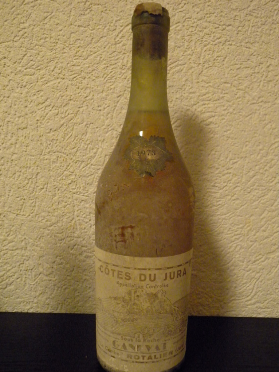 Côtes du Jura blanc sous la Roche 1973 de Ganevat
