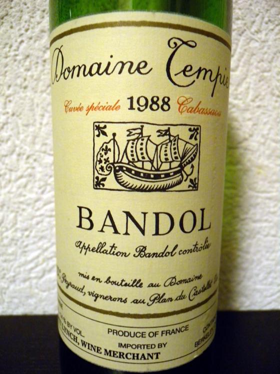 Cabassaou 1988 du Domaine Tempier