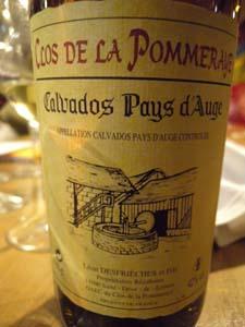 Calvados Clos de la Pommeraie