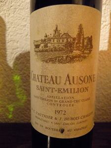 Château Ausone 1972