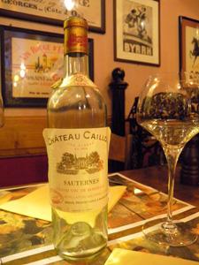 Château Caillou 1959 la bouteille