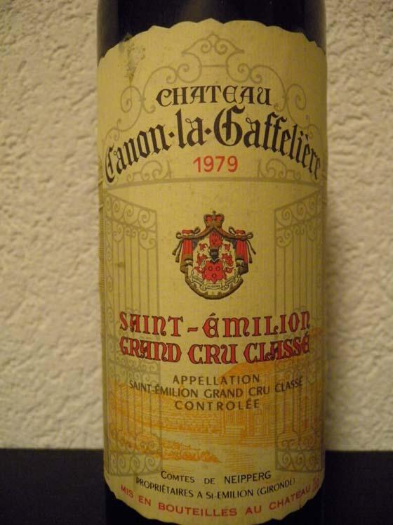 Château Canon la Gaffelière 1979