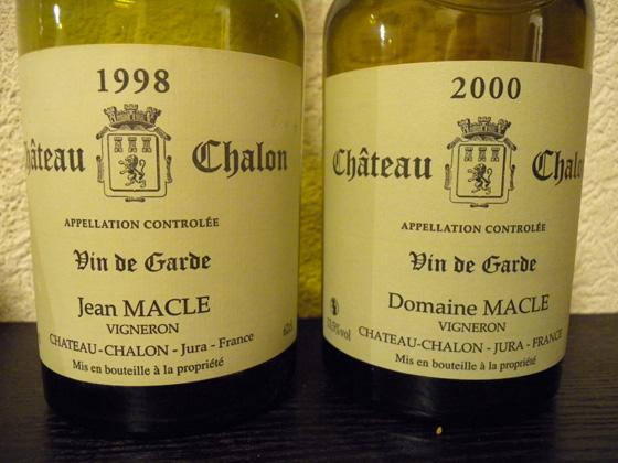 Château Chalon 1998 & 2000 de Jean Macle