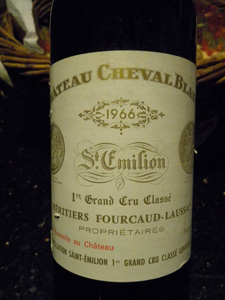 Château Cheval Blanc 1966 étiquette