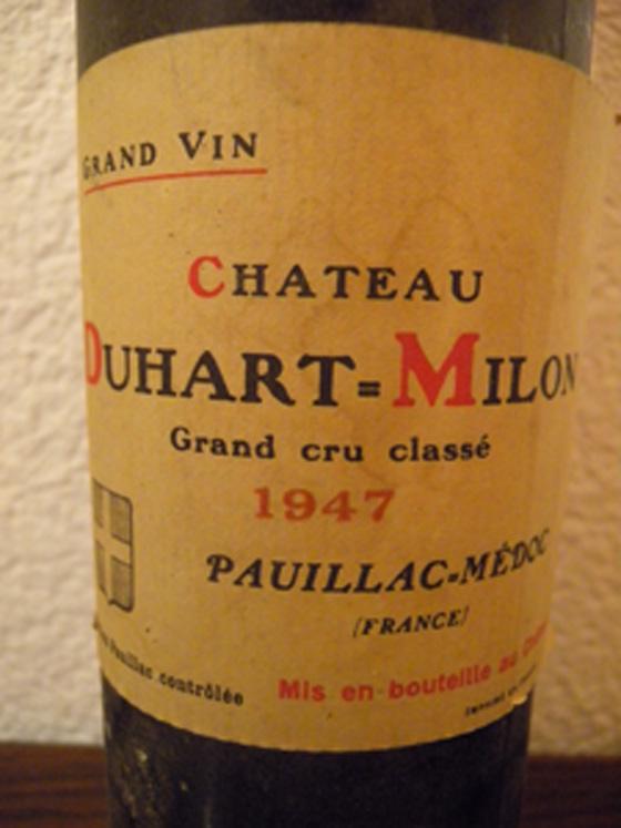 Château Duart-Milon 1947 étiquette