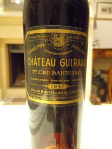 Château Guiraud 1947 étiquette