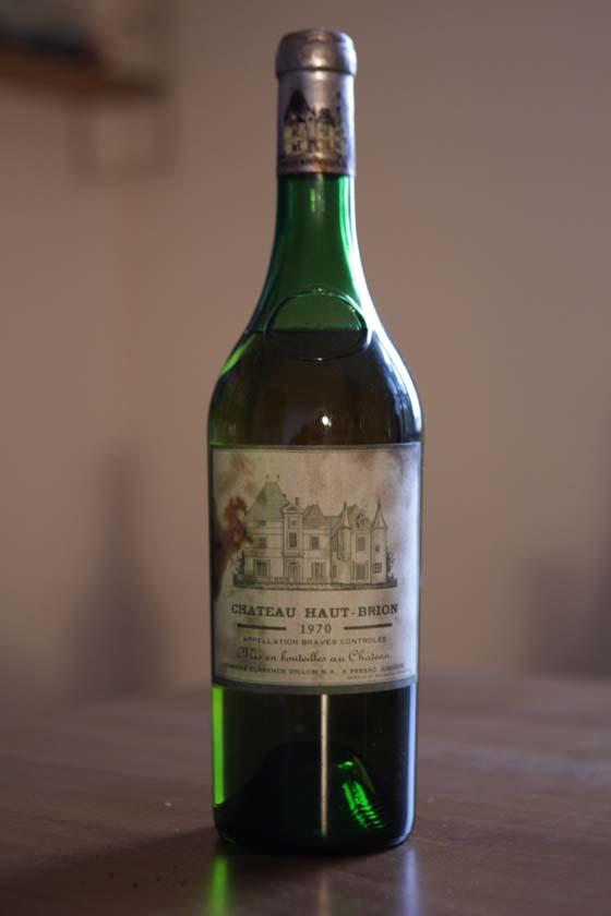 Château Haut-Brion blanc 1970 bouteille