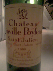 Château Léoville Poyferré 1989