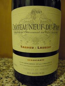 Château Neuf du Pape Laurent Tardieu 2000