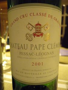Château Pape-Clément 2001