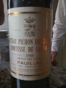 Château Pichon Longueville Comtesse de Lalande 1988