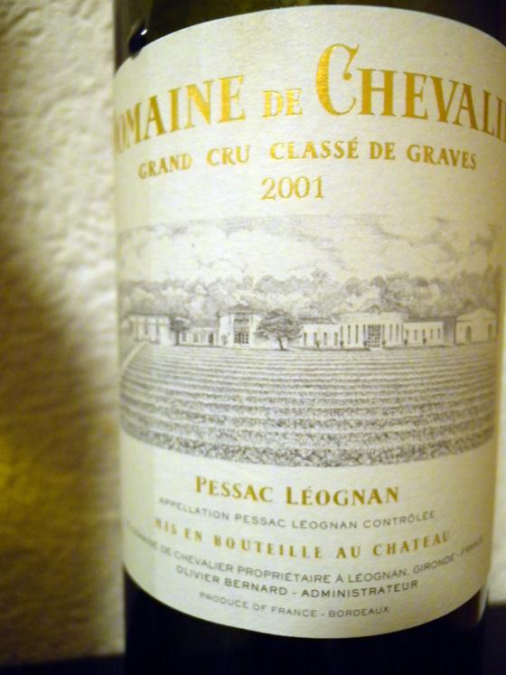 Domaine de Chevalier blanc 2001