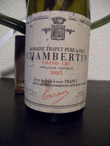Chambertin Grand Cru 1993 du Domaine Trapet