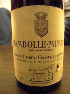 Chambolle-Musigny 1976 du Domaine Comte Georges de Vogüe