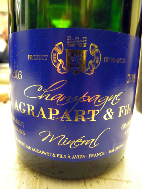 Champagne Agrapart & Fils 2003
