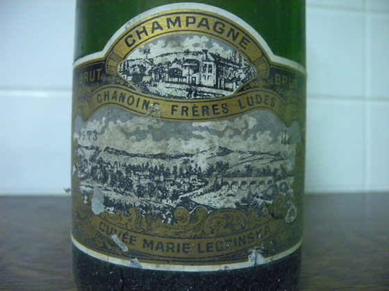 Champagne brut Chanoine Frères Ludes cuvée Marie Leczinska 1973