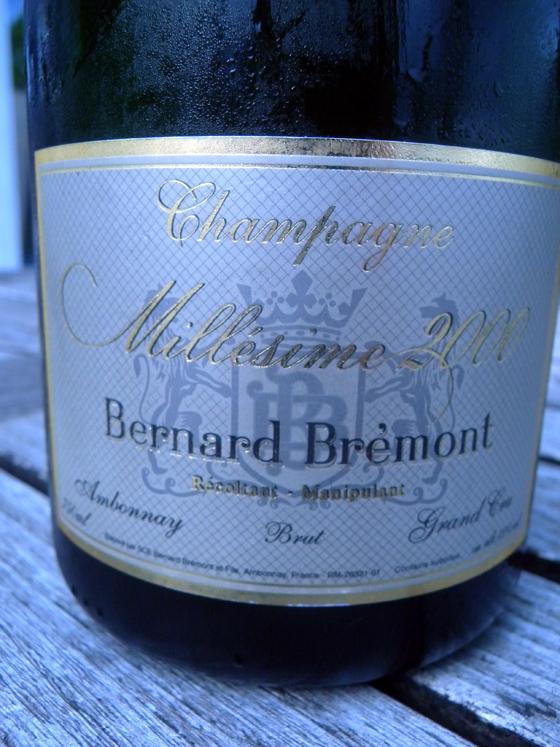 Champagne millésime 2000 de Bernard Brémont