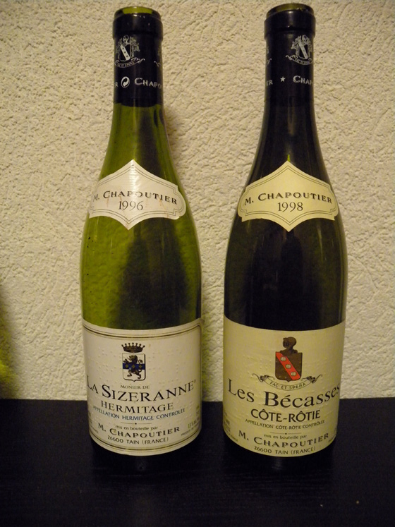 Chapoutier La Sizeranne1996 et Les Bécasses 1998
