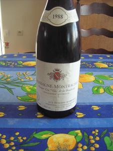 Chassagne-Montrachet 1er cru Clos de la Boudriotte 1988