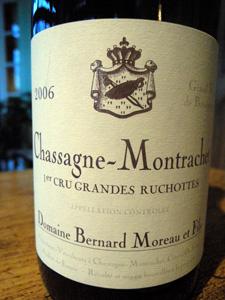 Chassagne-Montrachet 1er cru Grandes Ruchottes 2006 du domaine Bernard Moreau et Fils