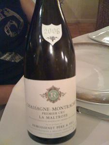 Chassagne-Montrachet 1er cru La Maltroye 2006 de Remoissenet Père & Fils
