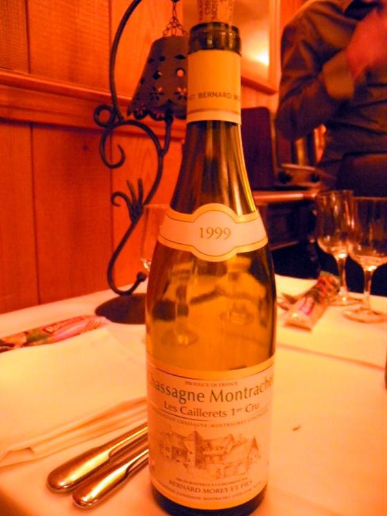 Chassagne-Montrachet Les Caillerets 1er cru 1999 de Bernard Moret
