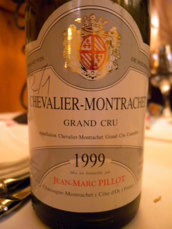 Chevalier-Montrachet Grand Cru 1999 de Jean-Marc Pillot