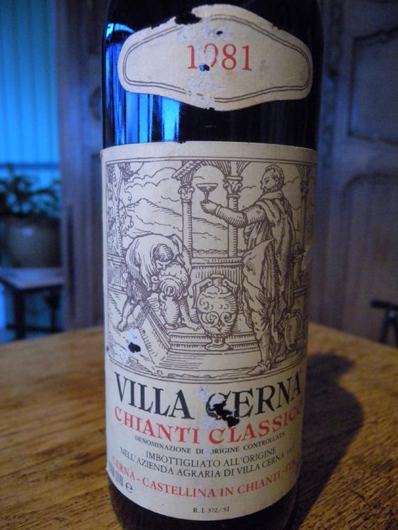 Chianti Classico Villa Cerna 1981