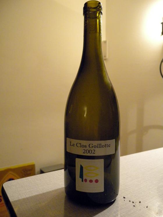 Clos Goillotte 2002 du domaine Prieuré-Roch