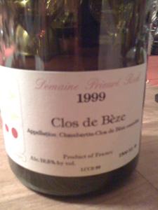 Clos de Bèze 1999 du Domaine Prieuré-Roch